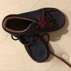 Other - Toddler 7 Chukkas Navy Burgundy Suede Lace Shoes